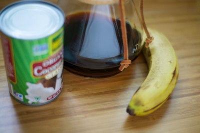 cách làm sinh tố chuối café