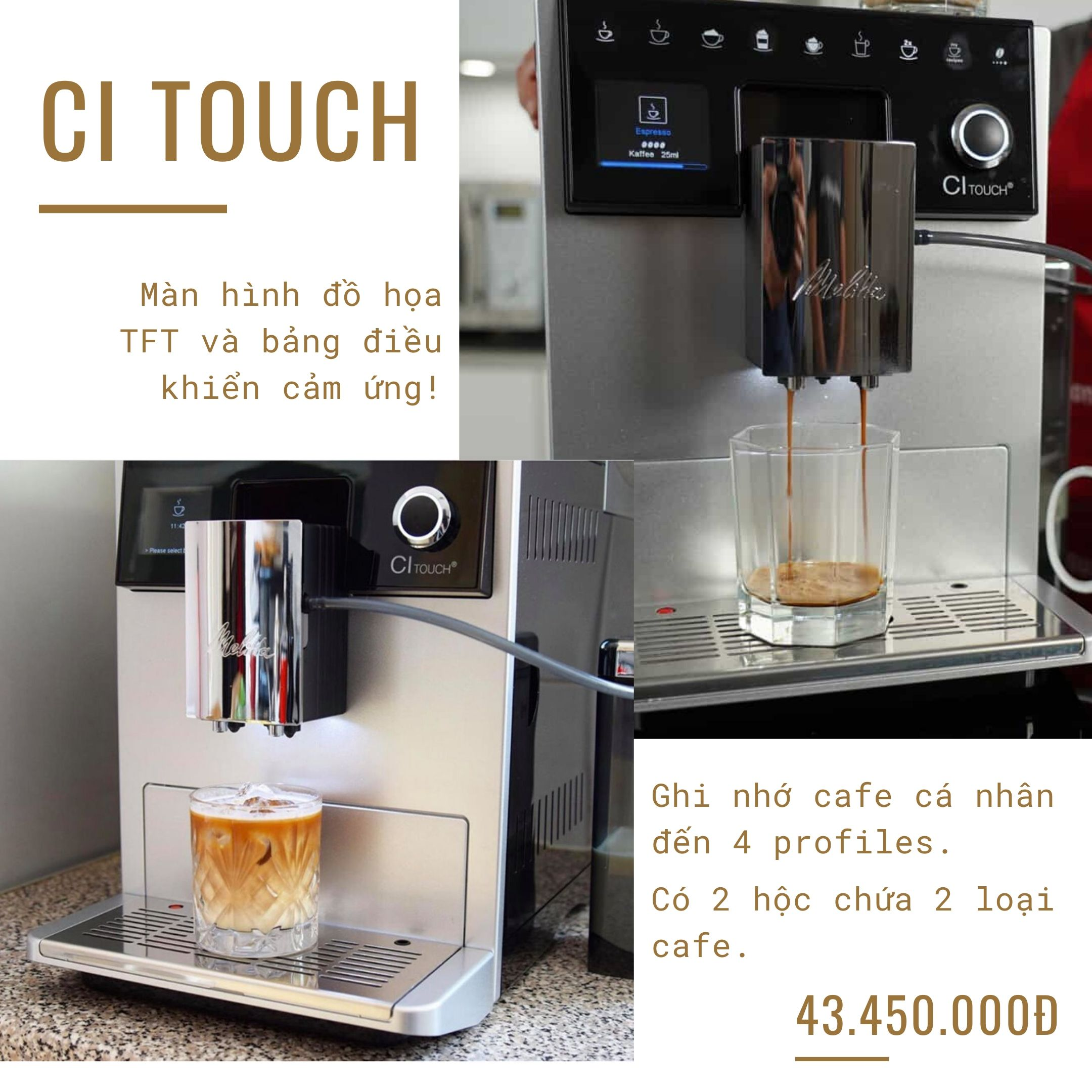 may-pha-cafe-tu-dong-cappuccino-melitta-ci touch